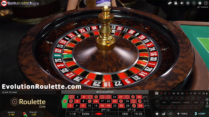 Play Live Dealer Casino Roulette By Evolution Gaming