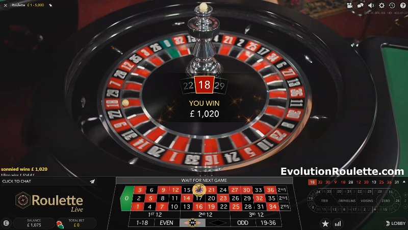 Evolution Roulette Winning Number